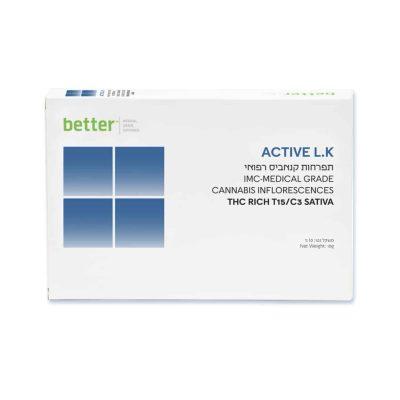 אריזת תפרחת קנאביס רפואי Active L.K של בטר