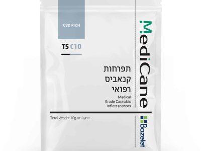 תפרחת קנאביס - סאטיבה T5/C10 - מדיקיין (Medicane)