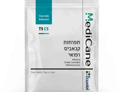 תפרחת קנאביס - סאטיבה T5/C5 - מדיקיין (Medicane)