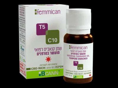 שמן פמיקאן (Femmican) סאטיבה T5/C10